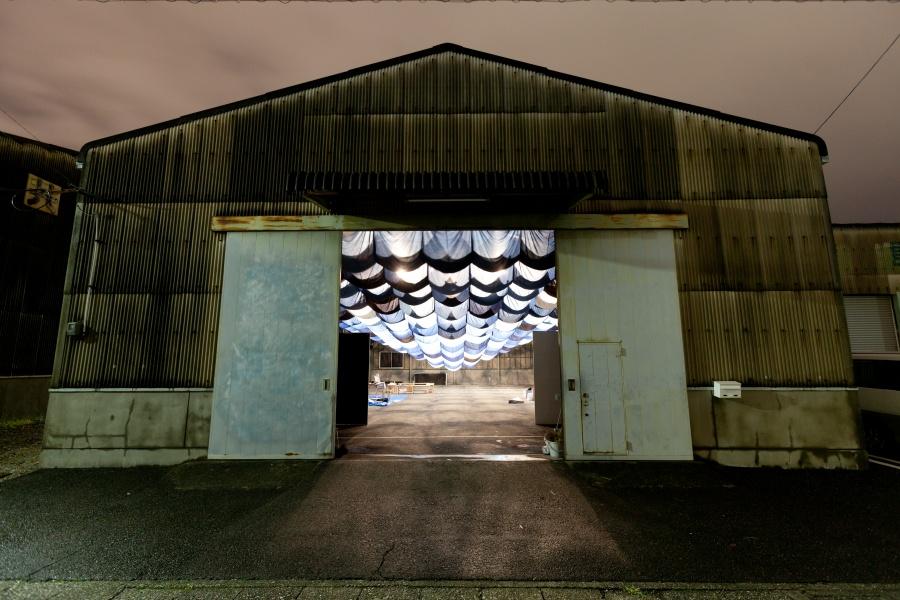 Door Art Installation : I am ai we are warehouse installation rowland